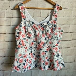 Torrid Sweethart Tank Top, Fitted, Floral, 1X